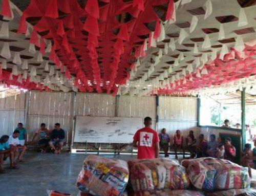 Cruz Vermelha Brasileira entrega 1,5 tonelada de alimentos em comunidades indígenas do Amazonas
